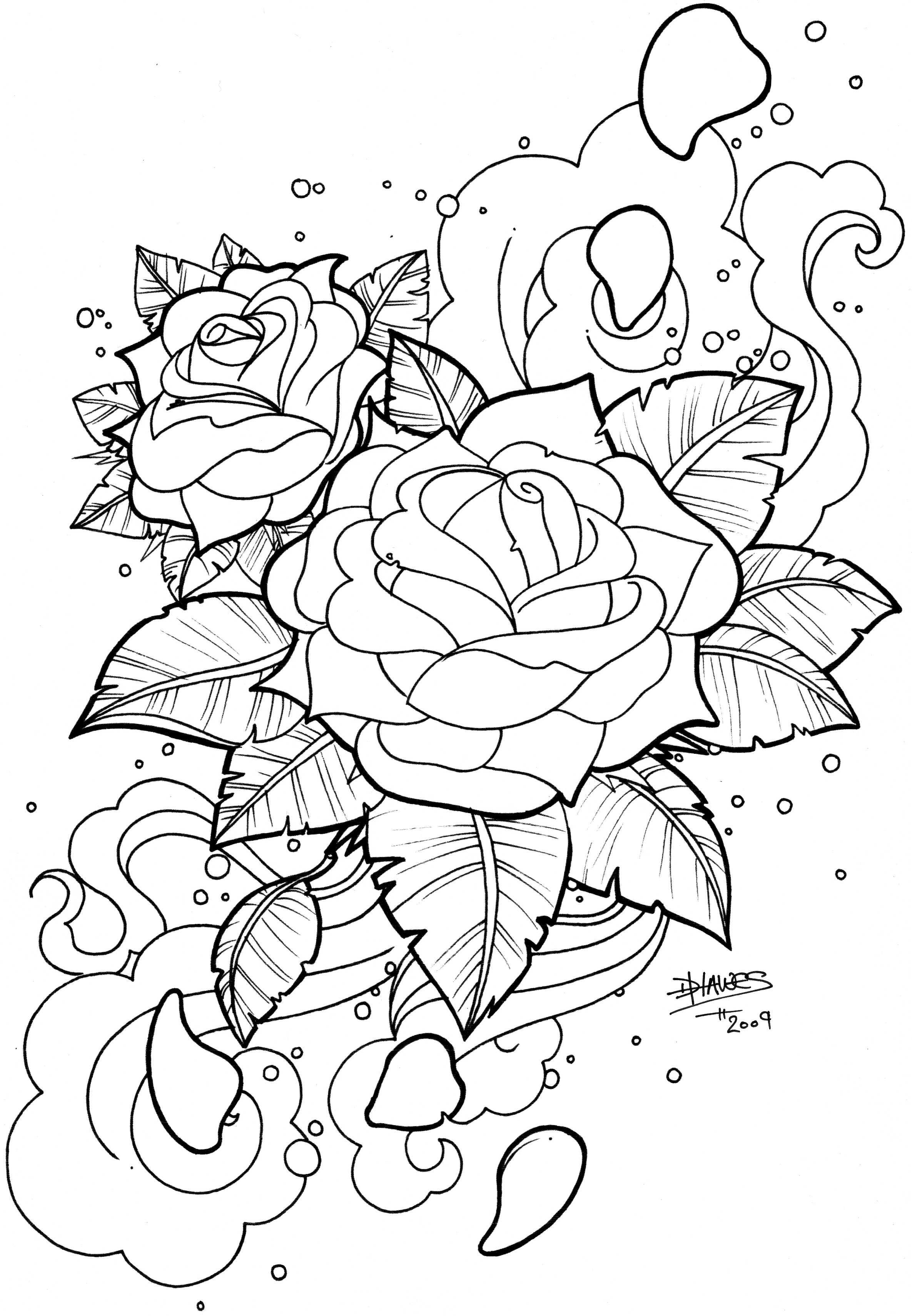 Snake Skull Rose Tattoo Snake N Skull B W Rose Coloring Pages