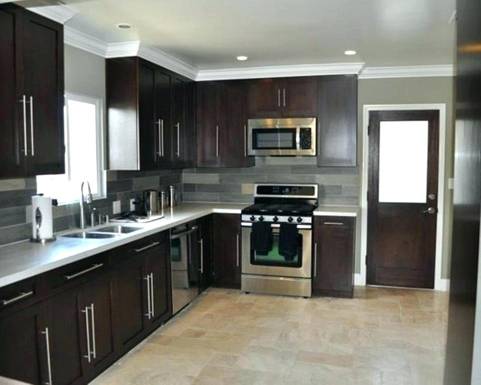 Kitchen   dark cabinets   L shape kitchen layout, L shaped ...