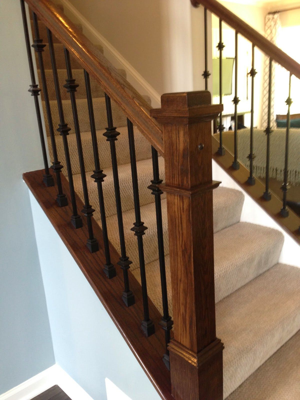 Yes It Has Been While But I Am Back Lam And I Have Been Very Busy Not Only Finalizing Th Interior Stair Railing Stair Railing Makeover Stair Railing Design