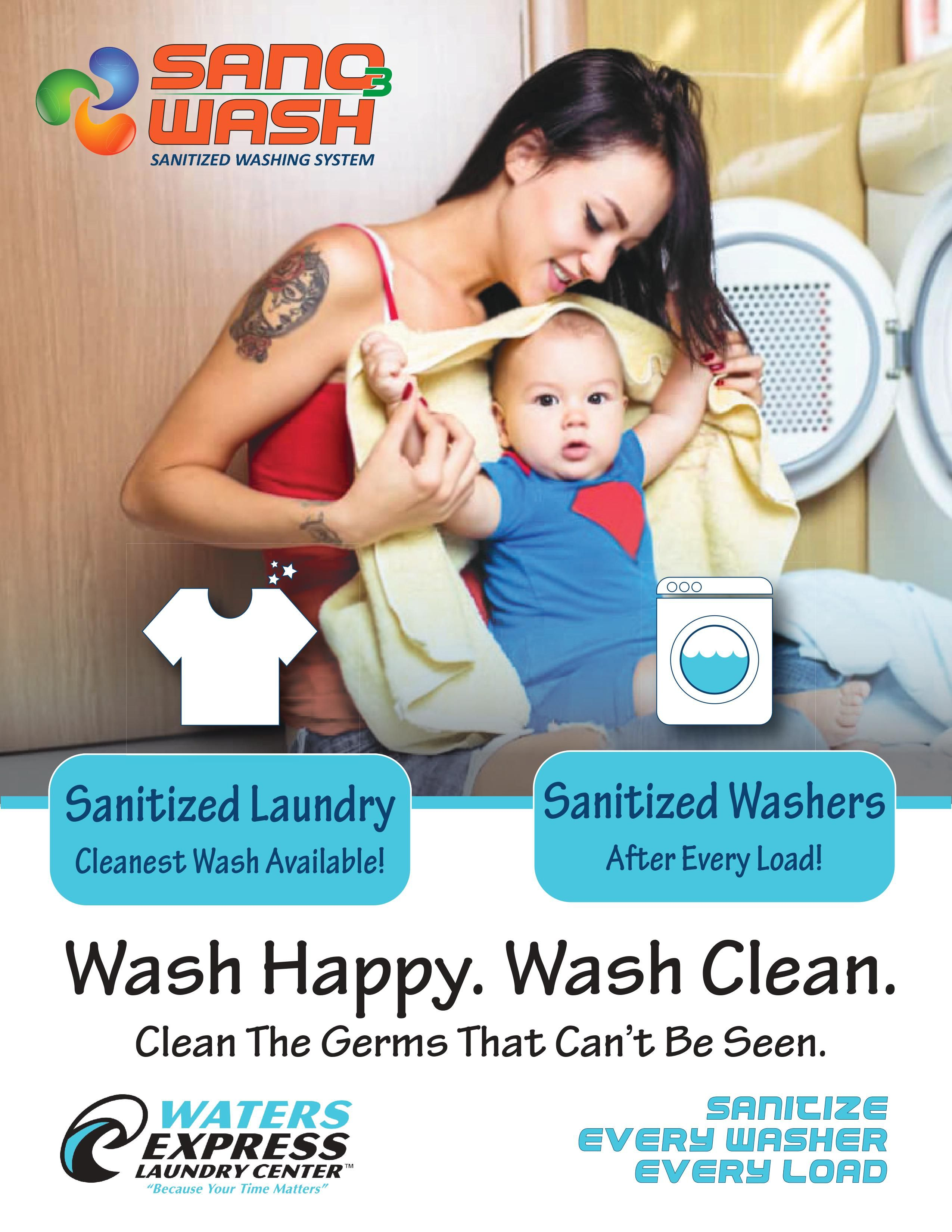Wash Sanitize Your Laundry At Waters Express Walk Away With