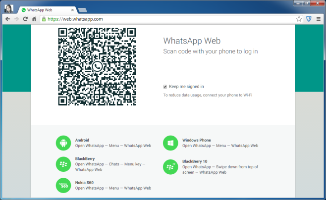 How to use whatsapp on a desktop computer