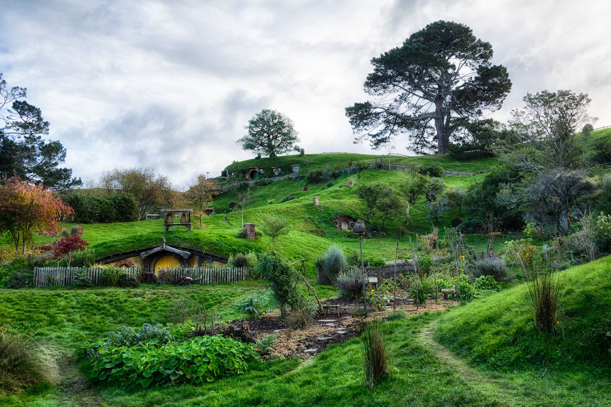 Hobbiton (film set) Matamata NZ The Shire where hobbits from J.Tolkien Lord  of the rings lived