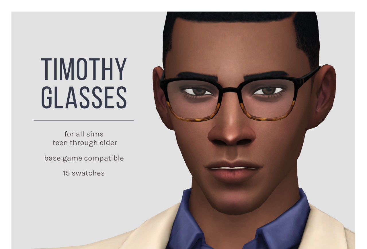 Lana CC Finds - femmeonamissionsims: Timothy Glasses