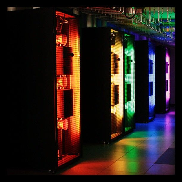 Custom Data Center In Row Units With Special Lighting Datacenter