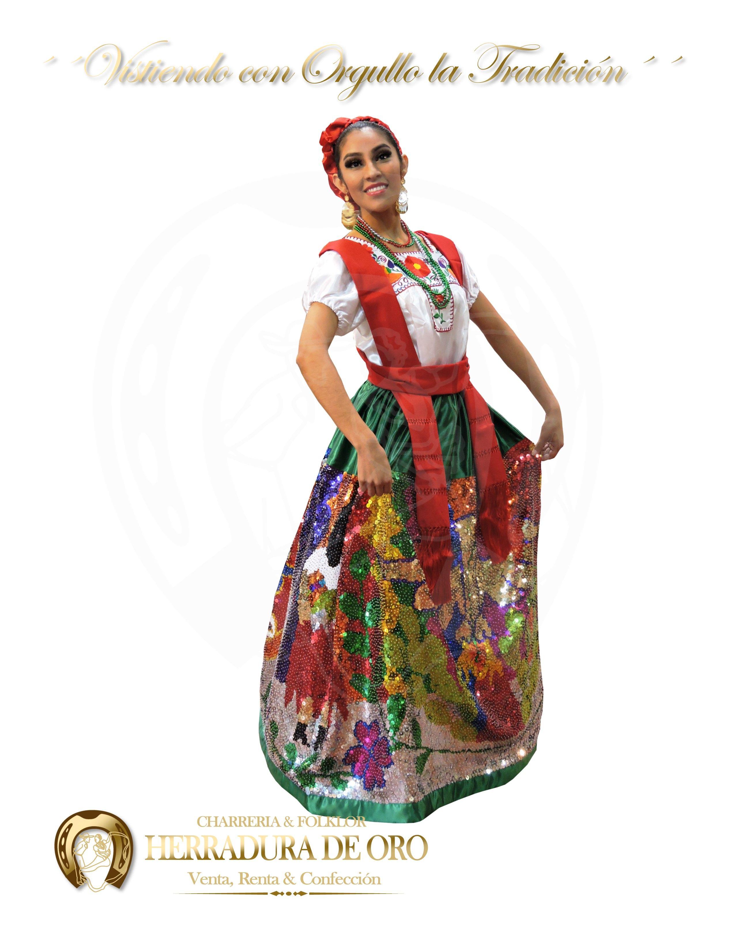 Traje Folklorico Del Estado De Puebla China Poblana 4264