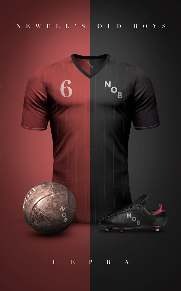 Vintage Clubs II on Behance - Emilio Sansolini - Graphic Design Poster - Newell's Old Boys - Lepra