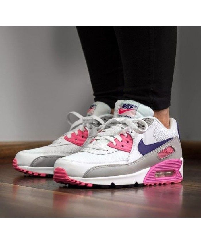 264671f27fc Nike Air Max 90 Essential Pink White Trainers