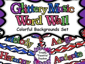 A HUGE, MEGA-SET of word wall cards for your elementary music room!  282 Words!!!  Beautiful, GLITTERY printables for your music classroom!!!  Save over 40% by purchasing this Mega Set!This set includes each category with a different color glittery background.