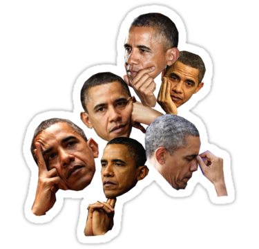 Obama Sticker By Trickledown In 2021 Hydroflask Stickers Snapchat Stickers Meme Stickers
