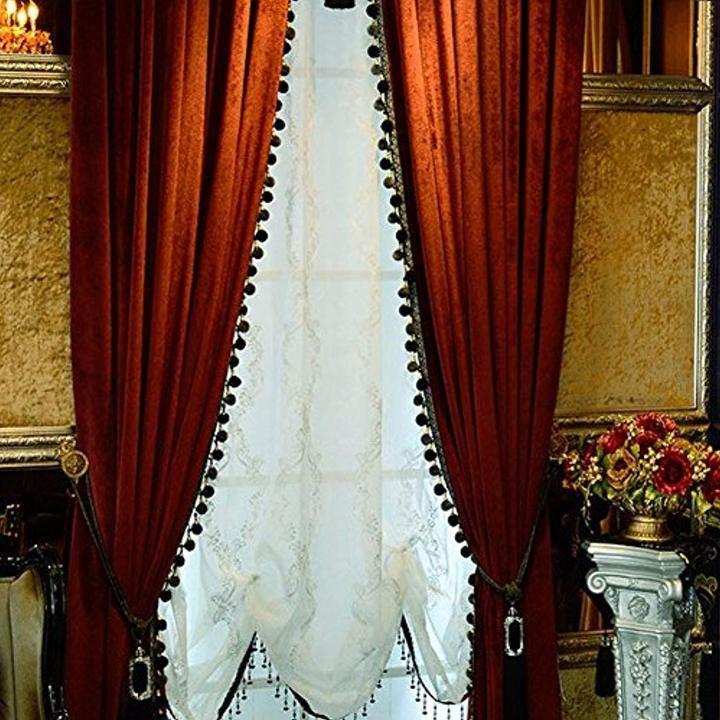 Luxury Curtain for Living Room Blackout Velvet 2 Panels ...