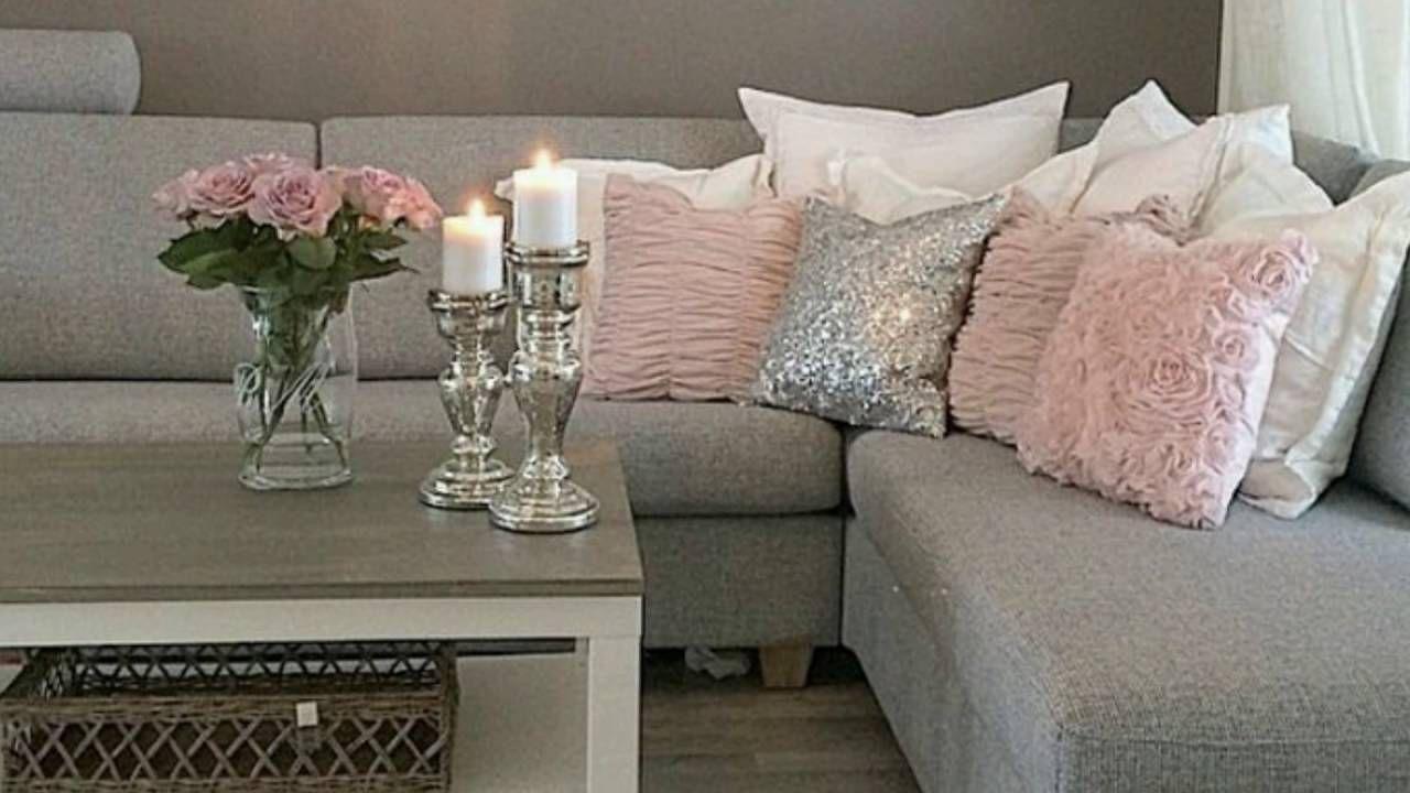 Ideas de decoraci n de salas en color gris hogar en 2019 for Decoraciones para salas