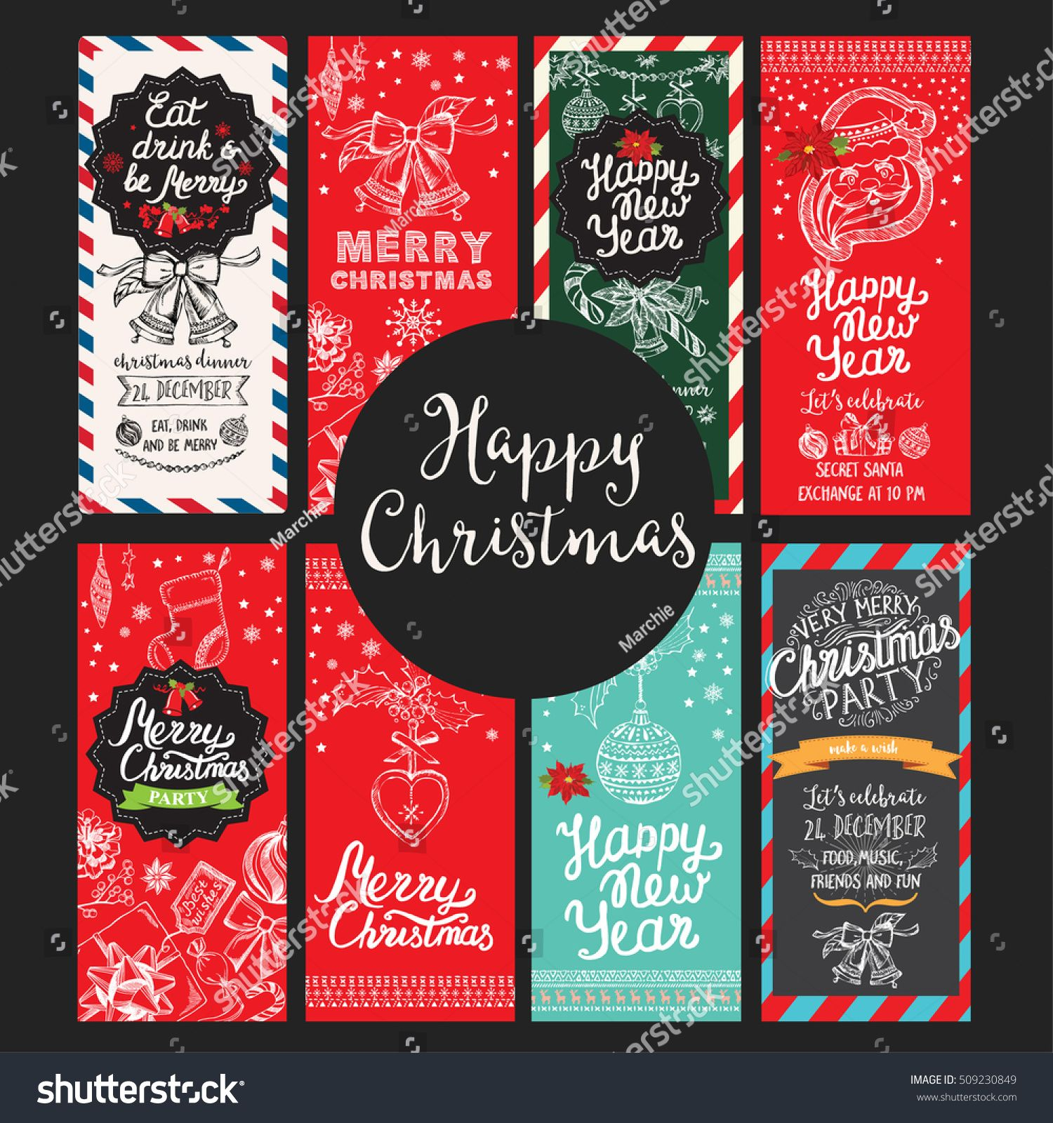 Christmas Restaurant Brochure Menu Template Vector Holiday