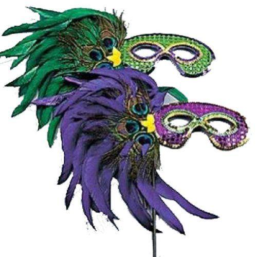 12 Pack Assorted Feather Masks Masquerade Mardi Gras Eye Masks 1 Dozen