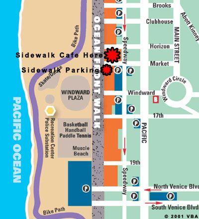 Sidewalk Cafe Santa Monica Venice Beach Pinterest Sidewalk - Venice beach boardwalk map