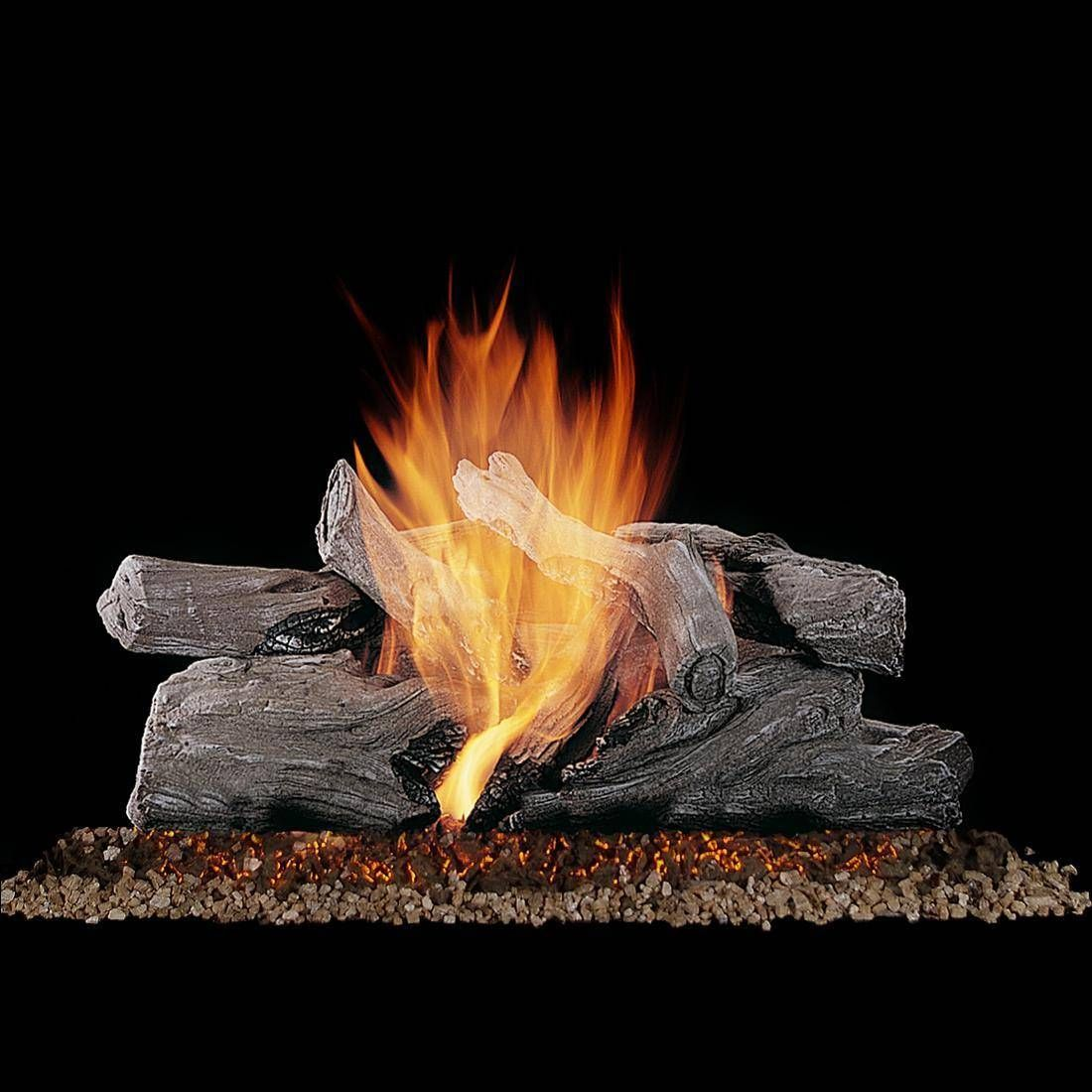 Rasmussen 20 Evening Campfire Gas Log Set With Vented Propane