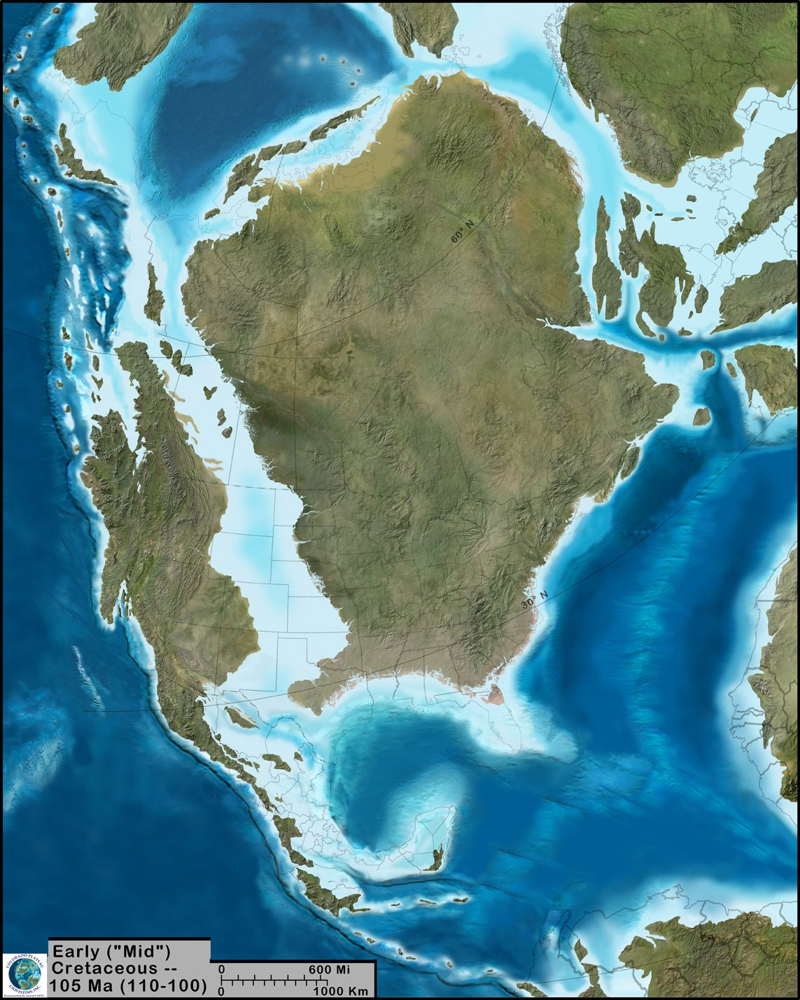 A Paleogeographic Reconstruction Of North America During The Late - Map of united states during reconstruction
