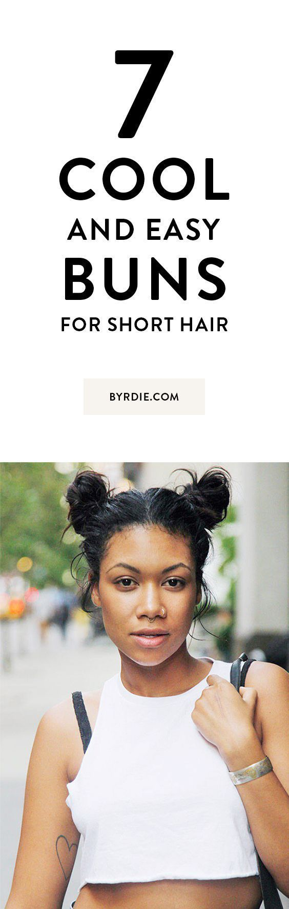 cool and easy buns that work for short hair easy hairstyles