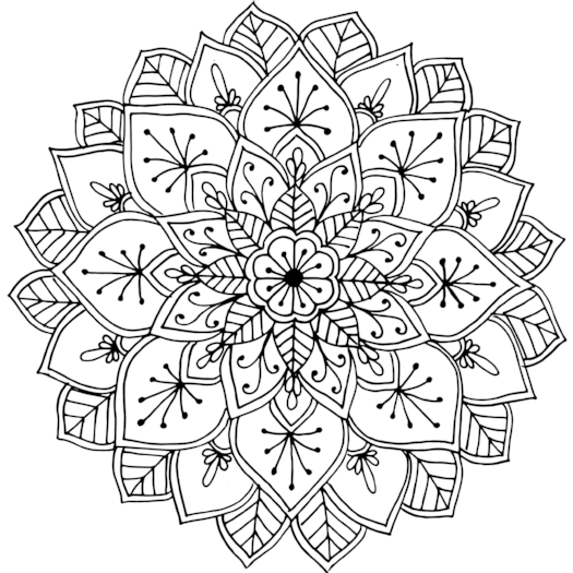 cool mandalas coloring pages | This mandala was drawn while the artist was camping near ...
