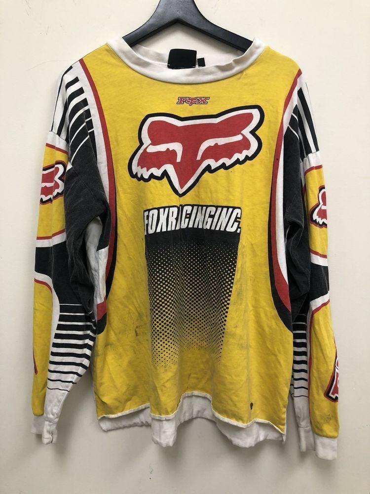 Vintage Fox Racing Motorcross Long-sleeve Shirt Size L Free Shipping ... 4beeb9278