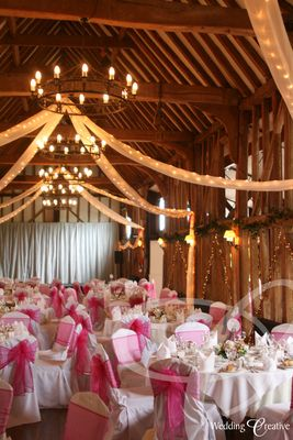 Barn Wedding Decorations Who Would Ve Thought But I Love The Ceiling