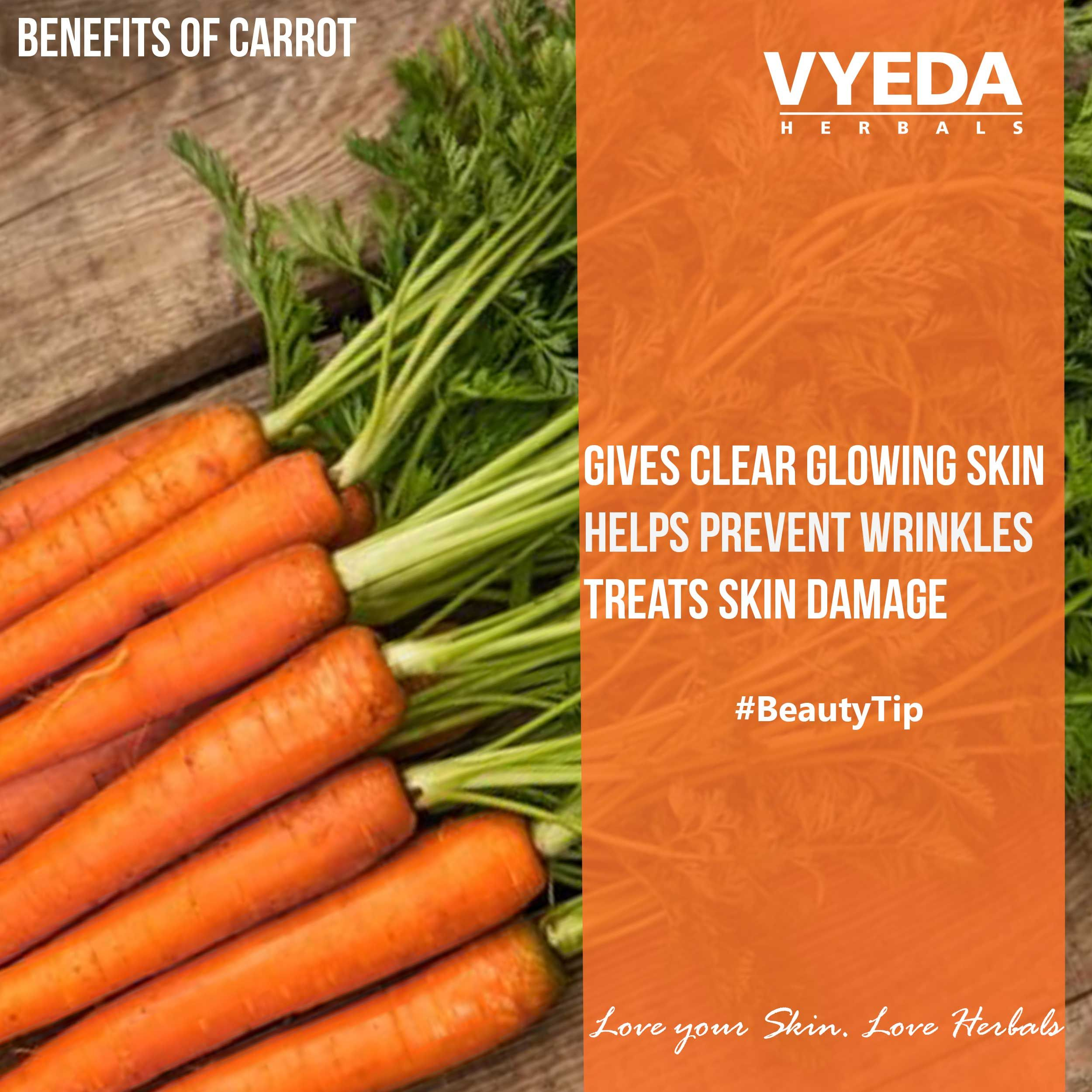 Carrots tastes sweet.. But also glows Skin #carrots #BeautyTips