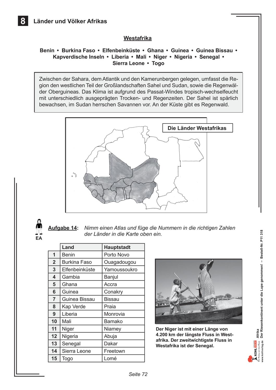 Lander Und Volker Im Westen Afrikas Unterrichtsmaterial Im Fach Erdkunde In 2020 Erdkunde Geschichtsunterricht Afrika