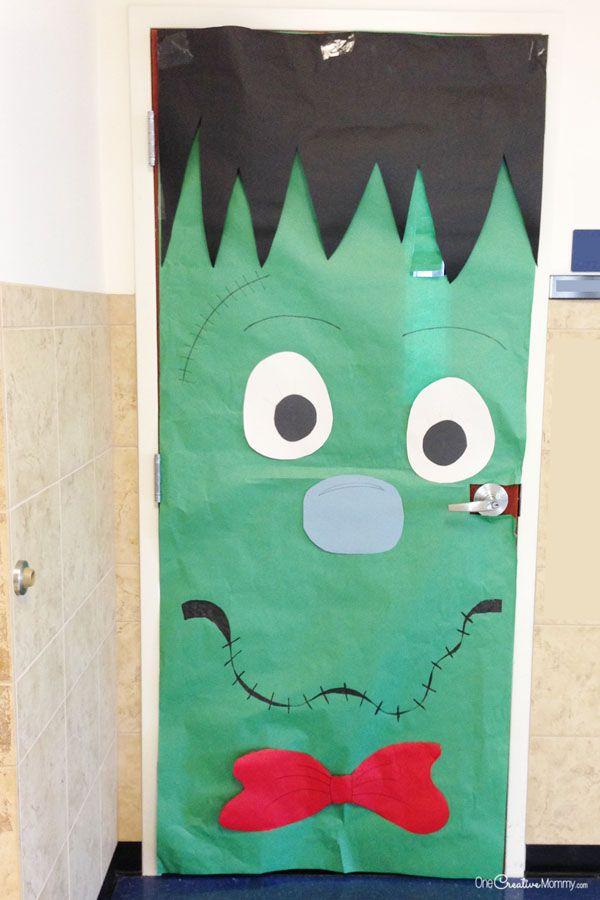 Cool Classroom Door Decorations for Halloween - onecreativemommy.com & Cool Classroom Door Decorations for Halloween | Halloween classroom ...
