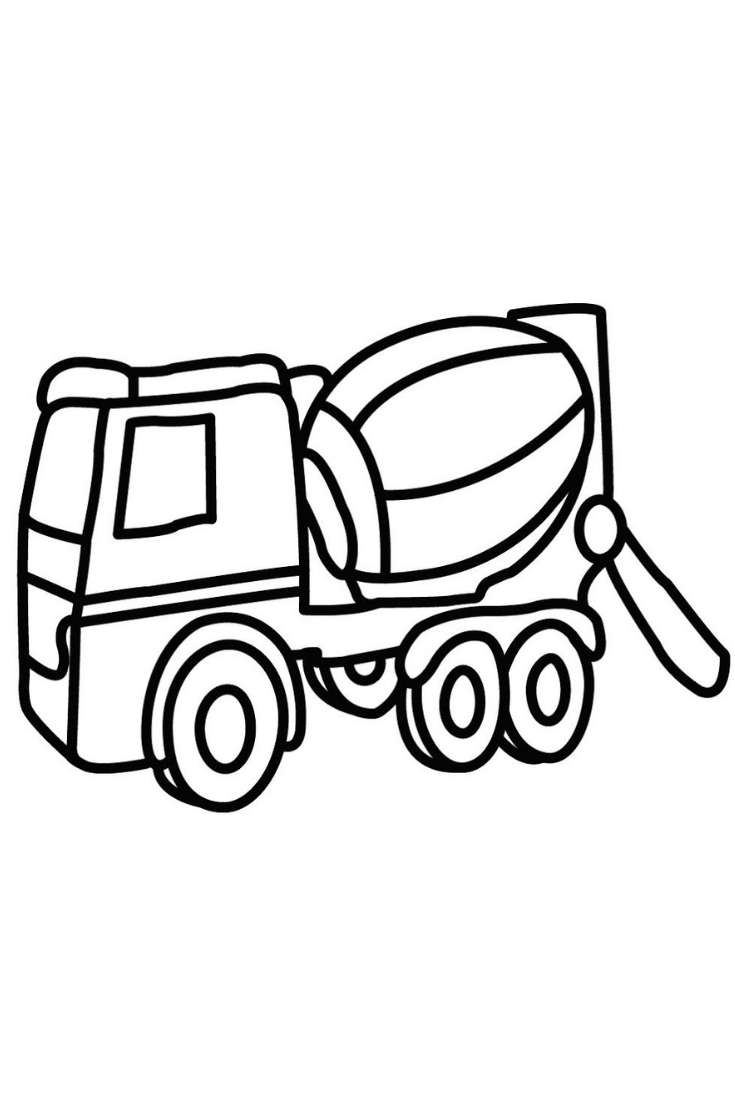 How To Draw A Concrete Mixer Truck Learn Colors For Kids Construction Truck Coloring For Kids Coloring For Kids Construction For Kids Learning Colors