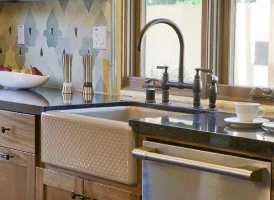 Evenweave Design on Alcott Undercounter Sink Apron-Front Kitchen ...