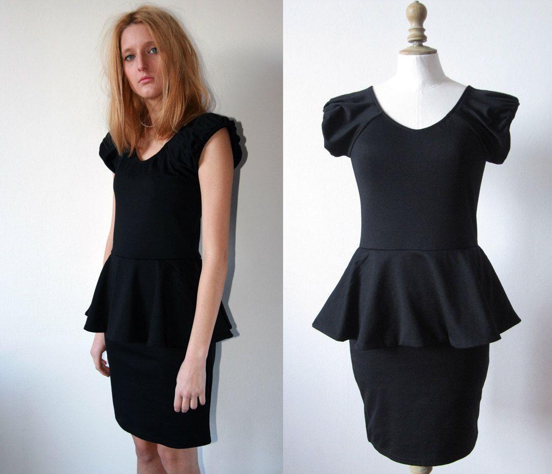 Vintage us little black dress skintight by serginebroallier on