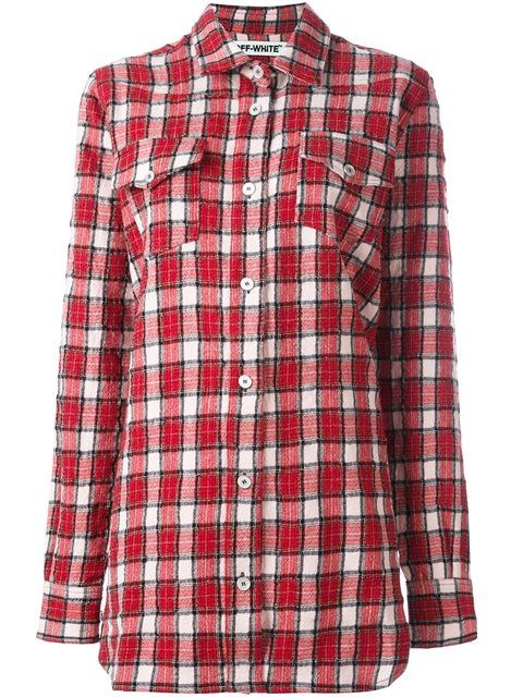 OFF-WHITE checked flannel shirt. #off-white #cloth #shirt