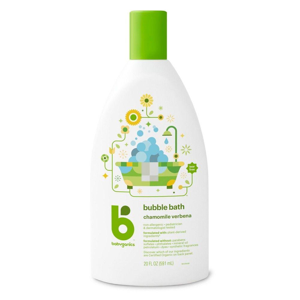 Babyganics Baby Bubble Bath Chamomile Verbena 20oz Bottle Baby Bubble Bath Baby Bubble Bubble Bath
