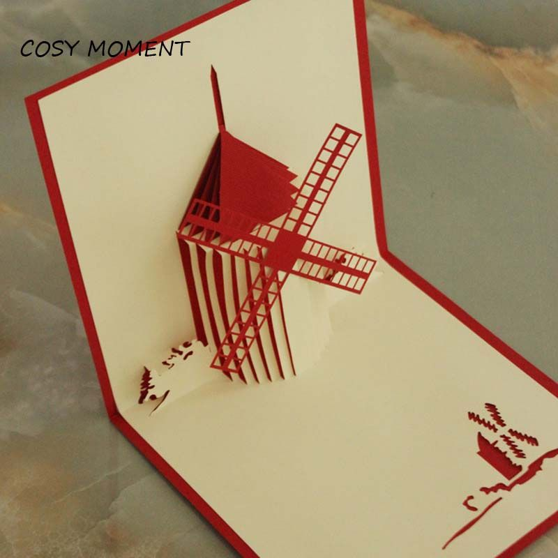 Cosy moment 3d windmill greeting card with envelope pop up laser out cheap greeting cards buy quality greeting cards with envelope directly from china gift card suppliers cosy moment windmill greeting card with envelope pop m4hsunfo