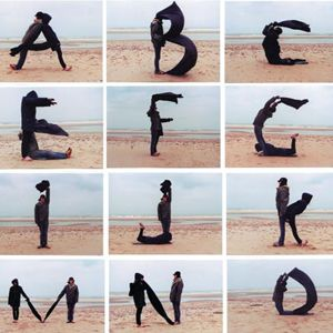 Backbreakers  alphabet  A complete typeface made at the beach of Zandvoort aan Zee in The Netherlands.