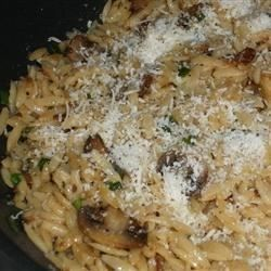 Orzo with Caramelized Mushrooms