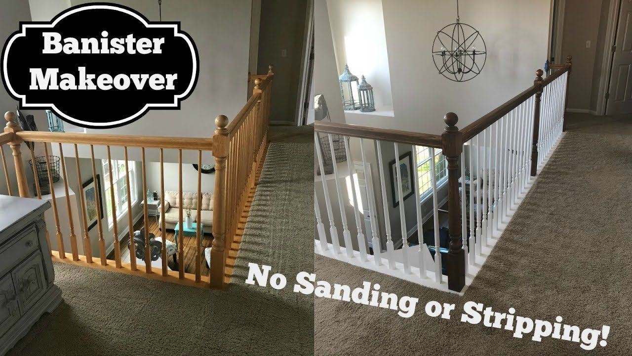 Refinishing Banister Without Sanding Tutorial Using ...