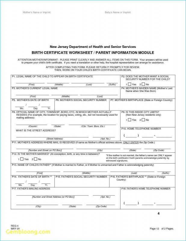 Birth Certificate Translation Template English to Spanish