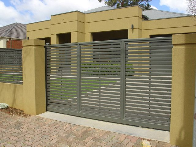 Perimeter Wall And Gates Metal Fence Gates Outdoor Walls Fence