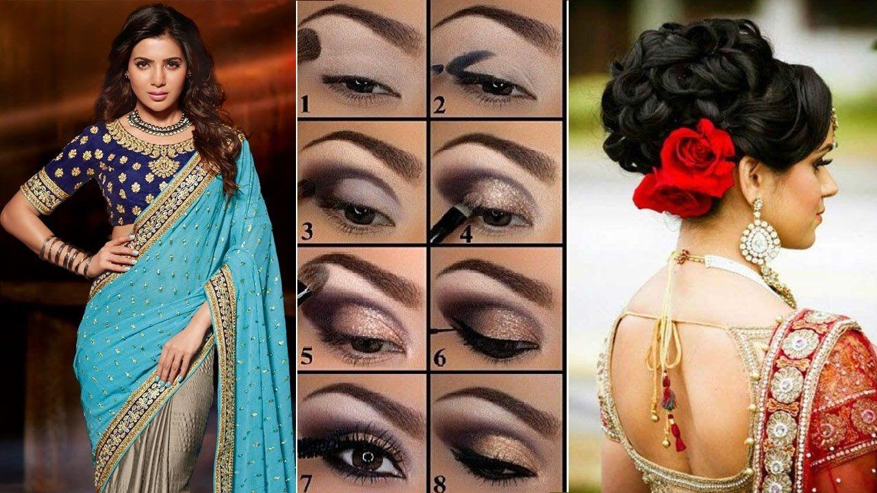 Makeup Hairstyles Sareedraping Diy Eyemakeup