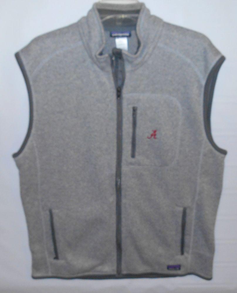 Patagonia gray full zip sweater fleece vest jacket menus size xl a