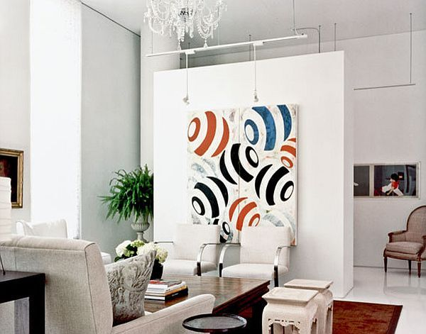 Hiding the tv with wall art