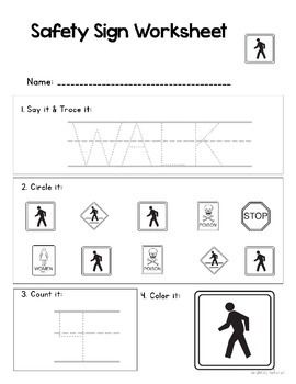 Delightful Life Skills Safety Signs 1 Unit For Special Education