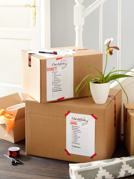 praktische checklisten zum ausdrucken f r den umzug n tzliches pinterest umzug umzug. Black Bedroom Furniture Sets. Home Design Ideas