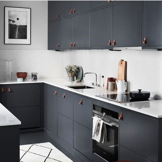 A Dark Grey And Marble Kitchen Renovation Decor Inspirations