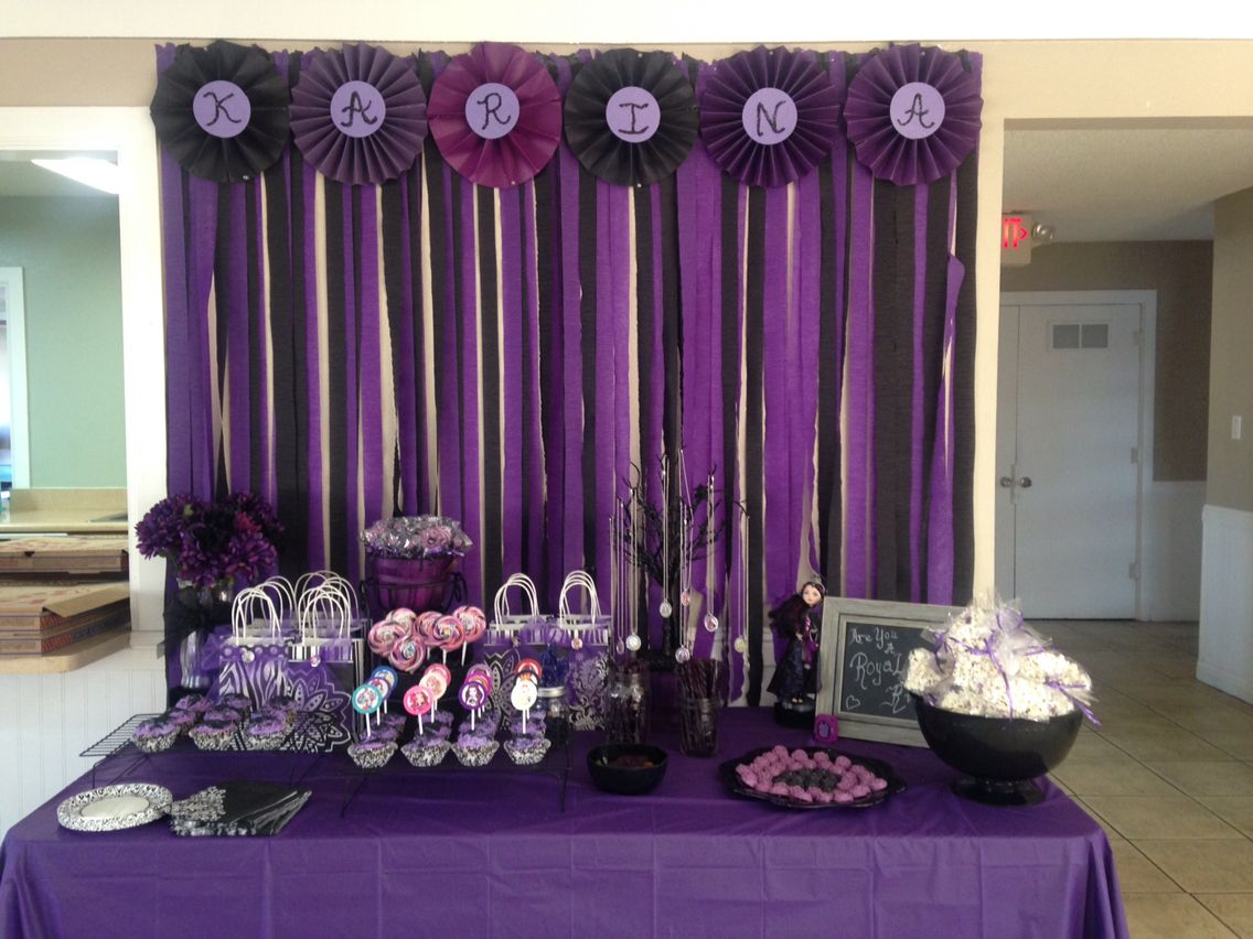 Salon Para Cumpleaños Ever After High Raven Party Karina 39s 7th Birthday Party