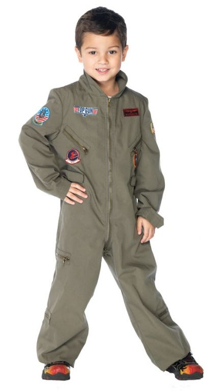 Top Gun Flight Suit - Kids Costumes