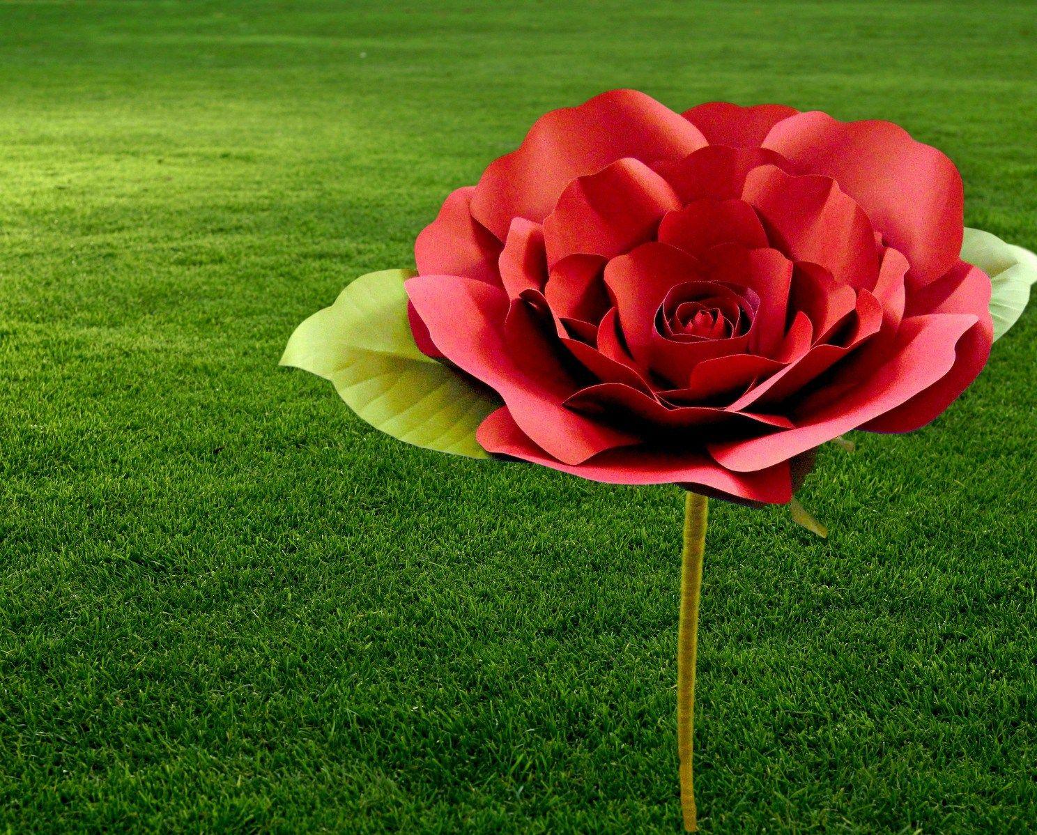 Diy A Flower Stem How To Make Giant Paper Flower Stem Paper
