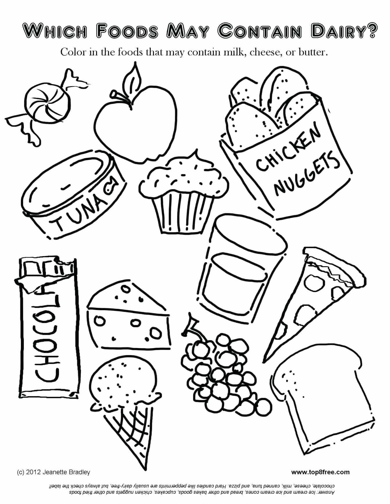Nutrition Facts Software Food Coloring Pages Free Kids Coloring Pages Coloring Pages For Kids