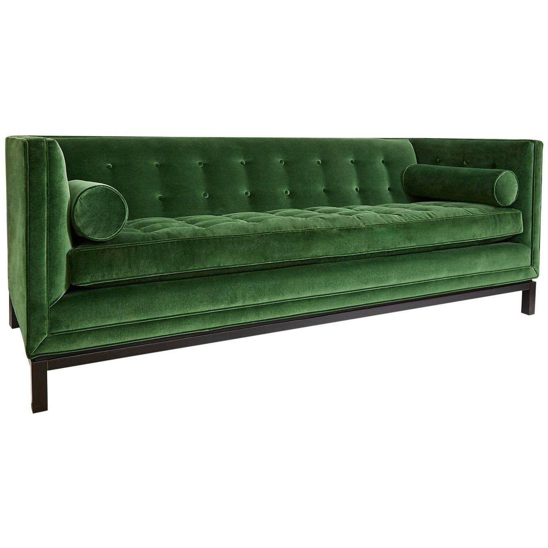 Lampert Sofa In Emerald Velvet Sofa Green Sofa Furniture