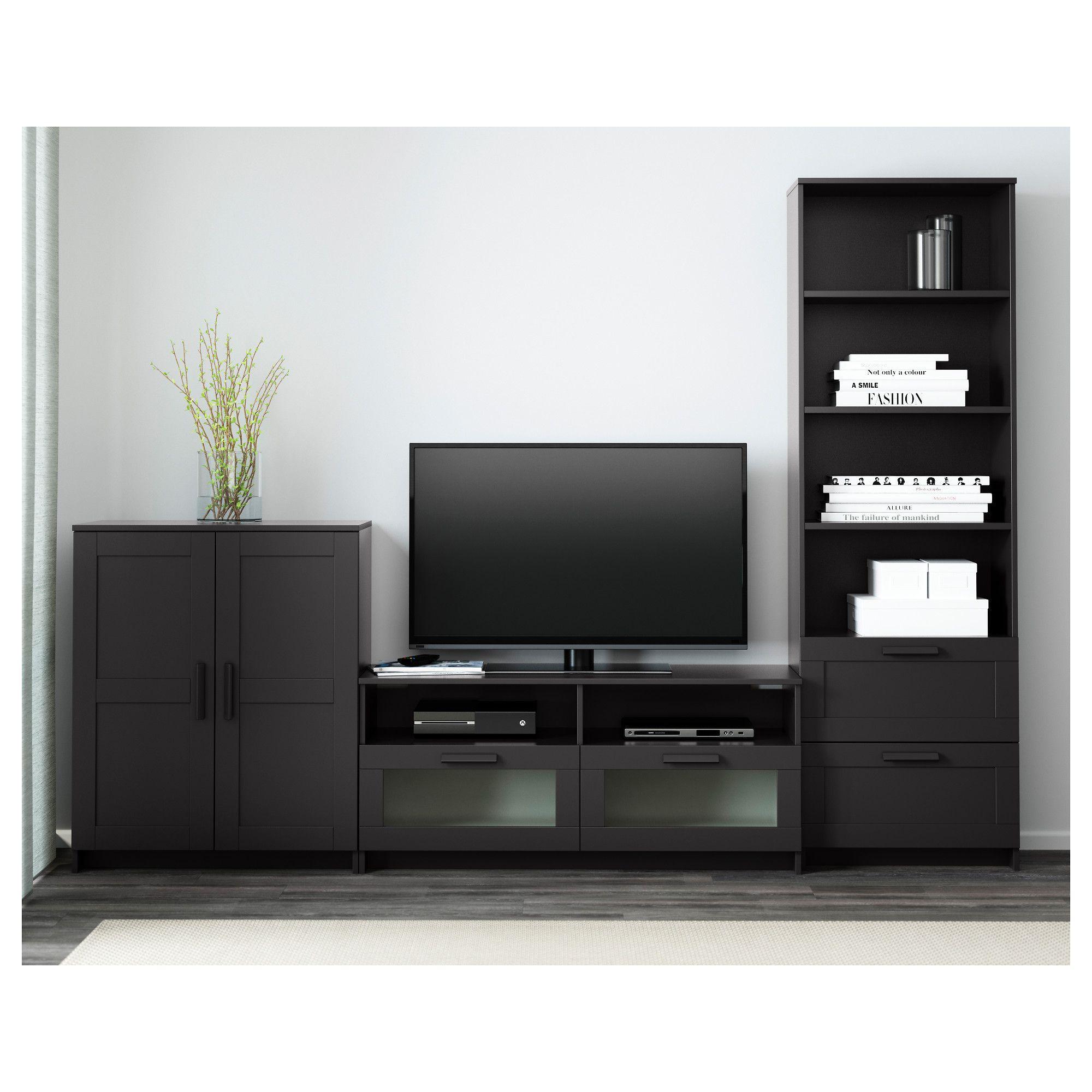brimnes tv mobel kombination schwarz